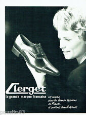 PUBLICITE ADVERTISING 036  1965  Chaussures homme Clerget