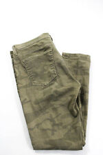 Current/Elliott Green Cotton Denim Camouflage Cropped Jeans Size 29