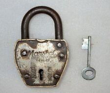 Vintage Old Rare Marshal Regd. Trade Mark No. 21 Aligarh Solid Brass Pad Lock