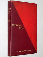 MEDIEVAL MUSIC - Robert Charles Hope (1899) An Historic Sketch, Ancient Egypt &c