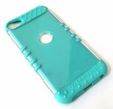 iPod Touch 5th & 6th Gen - HARD&SOFT RUBBER HYBRID CASE COVER MINT BLUE / CLEAR