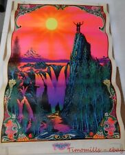1970 Garden of Eden poster by Burnell Blacklight Psychedelic Vintage Original