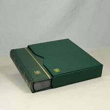 Leather Stockbook Lighthouse (64 Pgs.) Green -w/slipcase- LZS4/32KG - 30% OFF