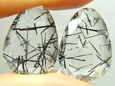 Q-9 Tourmalinated quartz,26.10ct 16x22x5mm Brazil,black tourmaline , gemsminas