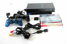 Sony PlayStation2 PS2 Game Console NTSC 2 Controllers 2 Games cables remote