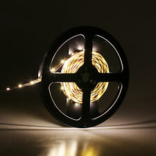5M DC 12V Car 3014 SMD 300LEDS LED Strip Flexible Light Ribbon Lamp Warm White