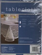 "NEW IVORY LACE JEWISH/STAR OF DAVID TABLECLOTH (60""X120"" OBLONG OR OVAL)"
