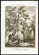 santino incisione acquatinta 1800 S.ROBERTO AB. DI LA CHAISE-DIEU