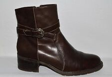 BARE TRAPS NATIVE SZ 7.5 BROWN LEATHER SUEDE ANKLE BOOTS BOOTIES