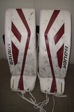 ARIZONA COYOTES Devan Dubnyk game-worn Bauer Supreme goalie pads DUBEY nickname