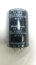 1 Piece 12000uF 12000mfd 80V Electrolytic Capacitor 105 degrees USA FREE SHIP