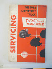 Original 1955 Chev truck two speed rear axle service booklet - Chevrolet