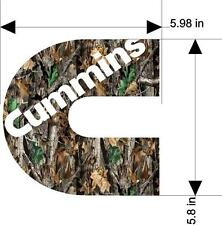 14'' x 14'' Cummin Camo Decal  Sticker (let me know which one you want )