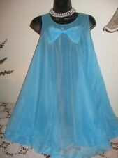 VTG MISS ELAINE Sheer MEGA SWEEP NYLON Double Layer Chiffon NightGown SIS CD