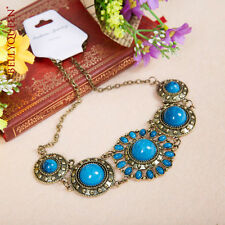 Belly Dancing Necklace Tribal Jewellery Turquoise Blue Vintage Style Dance AA37