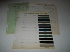 1938 STUDEBAKER PAINT CHIP CHART COLORS SHERWIN WILLIAMS PLUS MORE