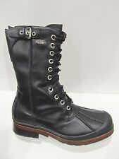 New Box Mens UGG Australia Black Reese Tall Leather Laced Winter Snow Boots 11.5