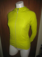 LULULEMON Athletica womens Hoodie Zip Up Jacket yoga shirt size 4 Lime Green