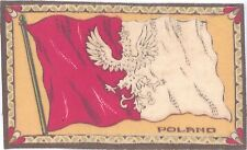 A T C (velveteen) - National Flags - Poland, orange background