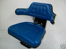 Tractor Seat FORD Blue,Waffle, FarmTractors, Universal Fit,Spring Suspension #ID