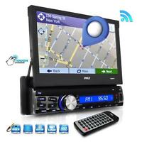 "New PLRNV71 7"" In Dash Touchscreen Navigation & Bluetooth AM/FM SD USB Receiver"