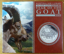 2015 Australian Lunar 2 PROOF Year of the Goat 1/2 oz .999 Silver Coin