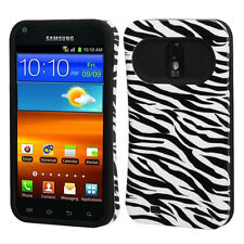 U.S. Cellular Samsung Galaxy S II 2 TPU Candy HYBRID GLOW Case Phone Cover Zebra