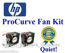 Quiet HP ProCurve 2724 Fan Kit J4897A, 18dBA 2x Fans Best for Home Networking!