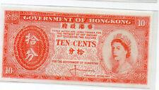 Hong Kong Banknote  10 cent 1961 UNC Queen Elizabeth II