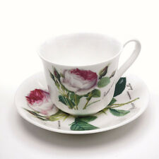 Roy Kirkham Redoute Rose traditionnel grand petit déjeuner Tasse & soucoupe bone china