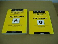 1994 Dodge Colt Eagle Summit shop service dealer repair manual NICE SET