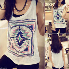 Top Fashion Geometry Summer Vest Top Sleeveless Blouse Casual Tank Tops T-Shirt