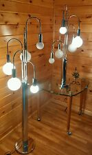 VTG MCM Sputnik/Atomic Cascading Burst Floor/Table Light-Lamp Set, 1950s/60s