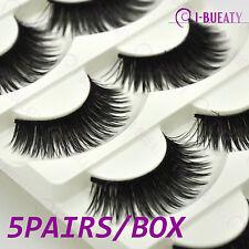 5 Pairs Extra Thick Natural False Eyelashes Handmade Fake Eye Lashes 8#