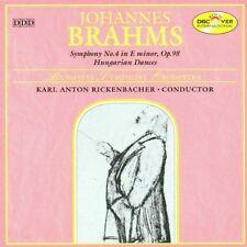 BRAHMS Symphony No. 4 Hungarian Dances KARL ANTON RICKENBACHER Budapest Orhestra