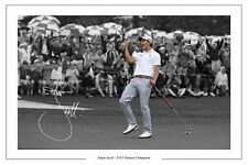 ADAM SCOTT 2013 MASTERS CHAMPION SIGNED AUTOGRAPH PHOTO PRINT