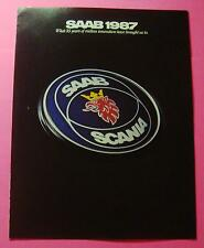 1987 SAAB FULL MODEL LINEUP SHOWROOM SALES BROCHURE..6 PAGES FOLDOUT