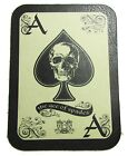 LEATHER ACE OF SPADES DEATH CARD MOTORCYCLE JACKET BIKER VEST MILITARY PATCH