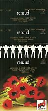 RARE / TICKET BILLET DE CONCERT - RENAUD LIVE A LAVAL MARS 1989 / COMME NEUF