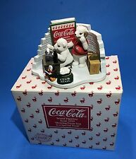 1999 Coca Cola Hearing From You Is A Special Treat Polar Bear Cub Figurine Boxed