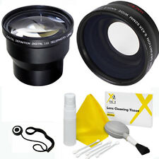 3.6X TELEPHOTO ZOOM LENS+WIDE ANGLE MACRO LENS + KIT FOR CANON EOS REBEL DSLR