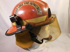 BULLARD FireDome FIRE FIGHTER HELMET w Faceshield, Neck Protector & COMM System