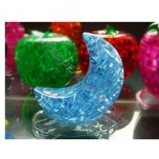 3D Moon Shaped Crystal Puzzle Jigsaw Model Diy Intellectual Toy Gift Furnish