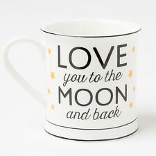 Sass and Belle Love you to the moon and Back Design Mug - Boxed ceramic mug
