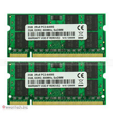 Samsung Chip 4GB 2x2GB PC2-6400 DDR2-800MHz 200Pin Sodimm Laptop Notebook Memory