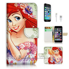 iPhone 6 6S (4.7') Flip Wallet Case Cover P3017 Little Mermaid