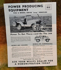 VTG 1950s Willys Jeep Rural Route Mailer Flier Power Producing Equipment N