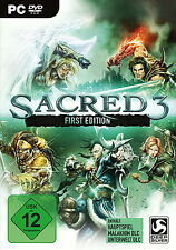 Sacred 3 First Edition PC versión alemana con manual en DVD no descarga