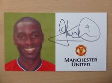2000-02 Andy Cole Signed Man Utd Club Card (7498)