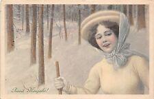 BG32541 woman femme new year neujahr germany